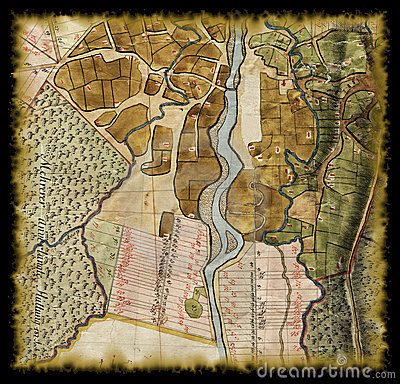 18th century old map