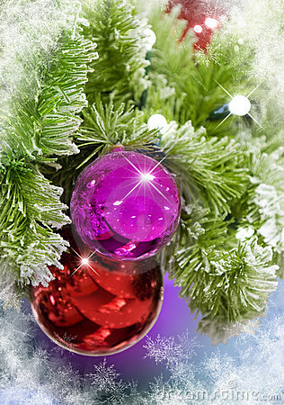 Christmas Ornaments with Snowflakes