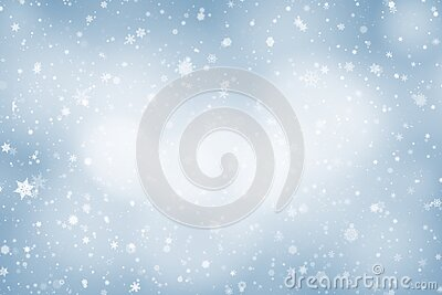 Blue abstract background. white bokeh light Christmas blurred beautiful shiny lights use wallpaper backdrop
