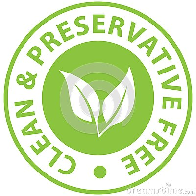 Preservative Free white leaves icon