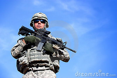 A US soldier