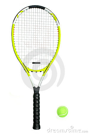 Tennis Racquet and Ball
