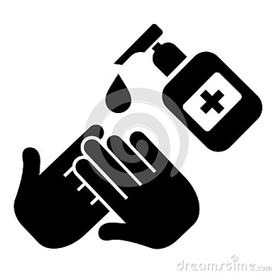 Clean and sanitize your hands vector icon