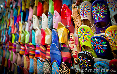 Leather slippers, marrakech, morocco