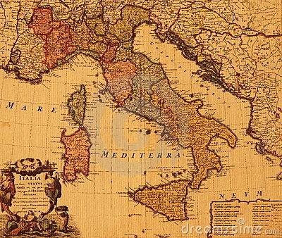 Antique map of italy gumiabroncs Choice Image