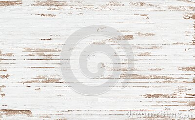 White rustic wood  texture background. top view background of light rusty wooden planks. Grunge  of weathered painted wooden plank