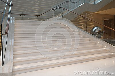 Luxury staircase inside building. Modern concept