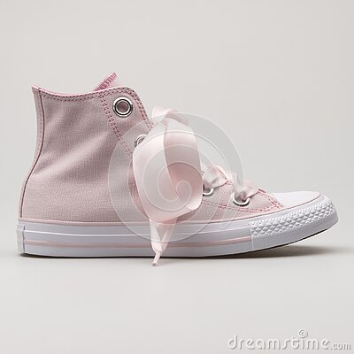 Converse Chuck Taylor All Star Big Eyelets High rose and white sneaker