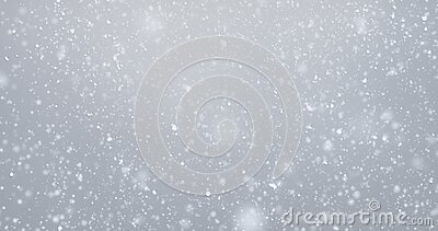 Snow fall snowflakes background, isolated overlay white snowfall light. Snow flakes falling with bokeh effect and winter glitter