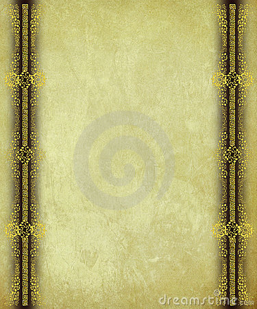 Antique Paper with Gold Scrollwork Borders