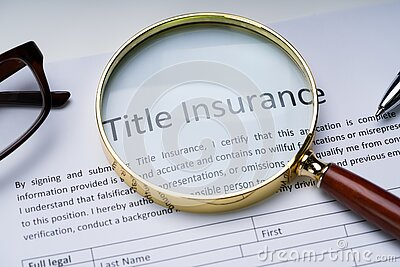 Title Insurance Form On Table