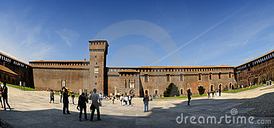 The Castello Sforzesco in Milano (Italia)