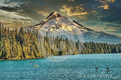 View of Mount Hood from Lost Lake Resort