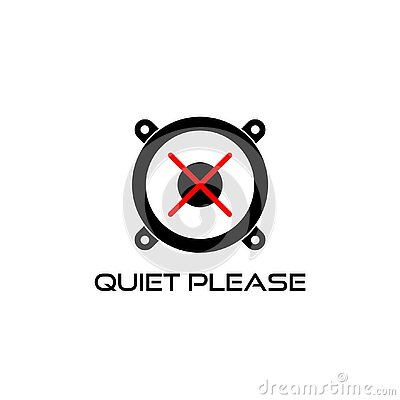 Quiet please sign. Keep silence icon isolated on white background