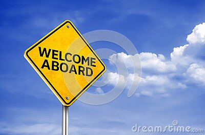 Welcome Aboard - greetings for a new start