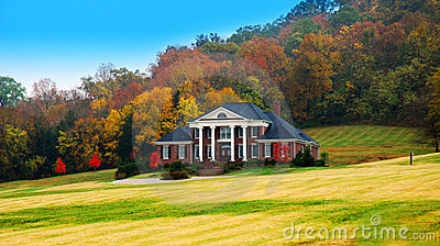 Luxury Home in the Fall