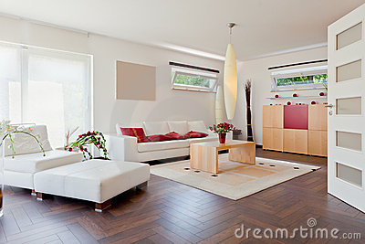 Modern house, living-room