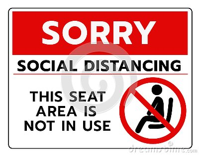 Do not sit Sign.Do not seat area warning signs. Forbid or forbidden seating down icons. Keep Social distancing for covid-19 or