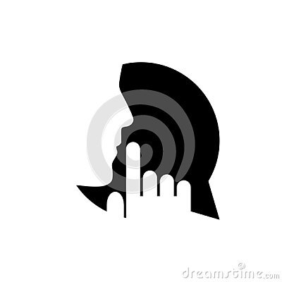 Keep quiet icon. Silent please sign isolated on white background