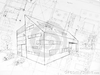 architecture building drawing. Drawing Od A Modern Building, Architecture Plans Building