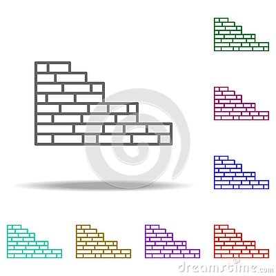 Brick wall outline icon. Elements of Construction in multi color style icons. Simple icon for websites, web design, mobile app,