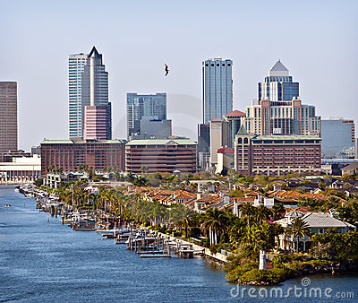 Tampa Skyline and Bay, Florida
