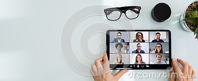 Online Video Conference Meeting Call Or Webinar
