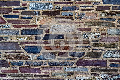 Multi Color Treated Brick Stone Surface Background, New Jersey, USA