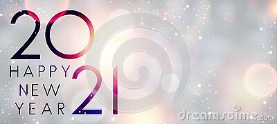 2021 happy new year sign on misted glass