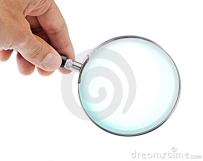 Hand And Magnifying Glass