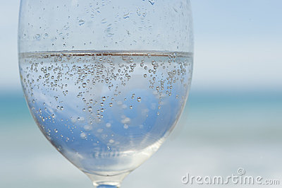 Close-up of bubbly drink