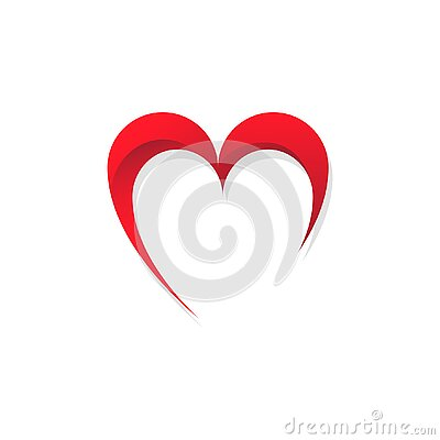 Abstract hearth love vector red color