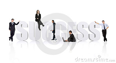 Business teamwork for success - businesspeople workforce