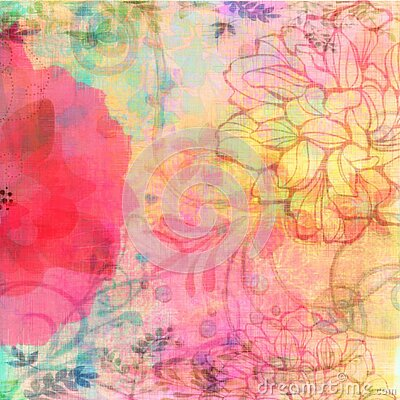 Vintage floral grunge bohemian style tapestry gypsy floral background . Batik hippy earthy collage
