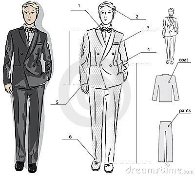 how to draw a tuxedo step by step