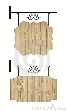 Wooden door signs