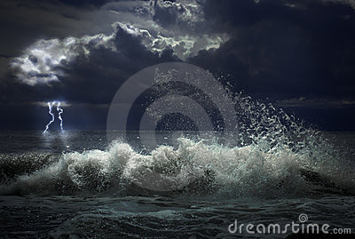 Storm with lighting
