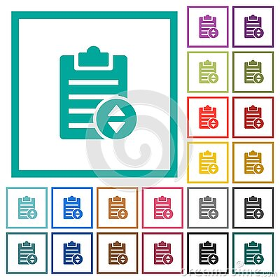 Adjust note priority flat color icons with quadrant frames