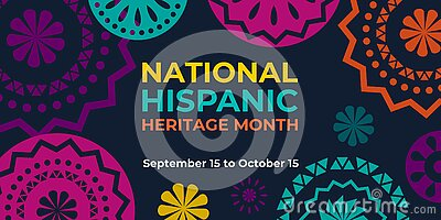 Hispanic heritage month. Vector web banner, poster, card for social media and networks. Greeting with national Hispanic heritage