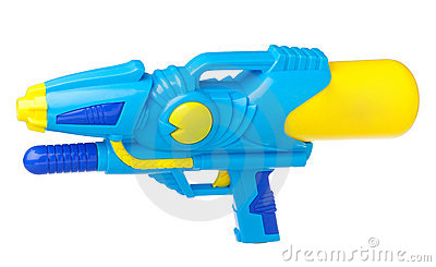 Toy gun isolated on white
