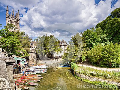 Oxford, UK, River Cherwell and Punts
