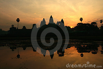 Sunrise of Angkor Wat in Cambodia