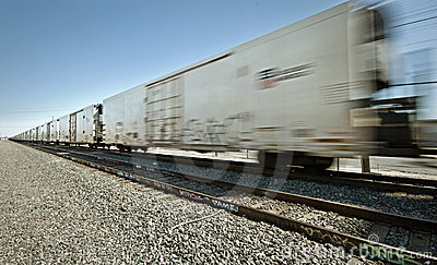 Moving Freight Train