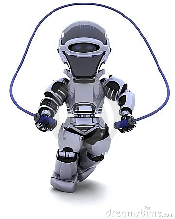 Robot skipping with rope