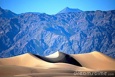 Dune and mountains