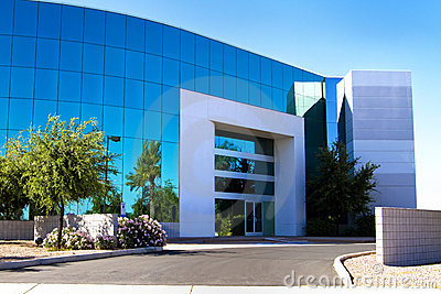 New modern corporate office building entrance