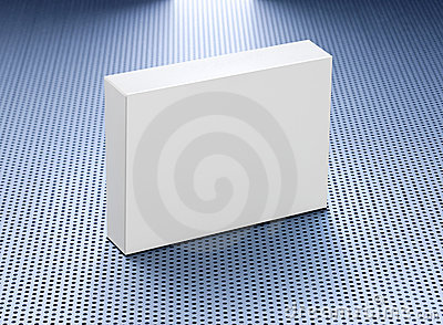 stock image of blank medicine product box