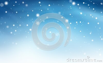 Blue white abstract background. white light and snowflakes Christmas blurred beautiful shiny lights use wallpaper backdrop