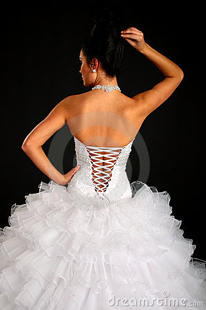 Back of bride and dress