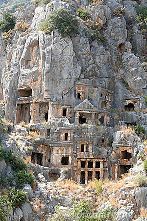 Lycian Tombs in Myra, Demre